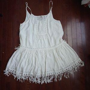 American eagle fringe lace boho dress
